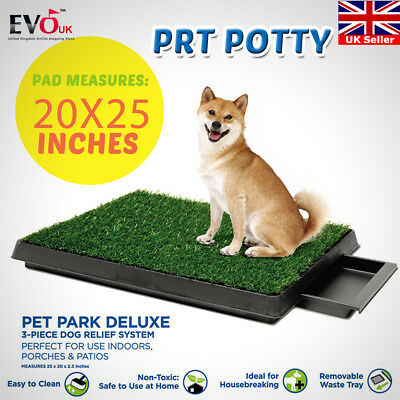 Large New Indoor Pet Toilet Dog Grass Mat Restroom Potty Training Loo Pad Tray