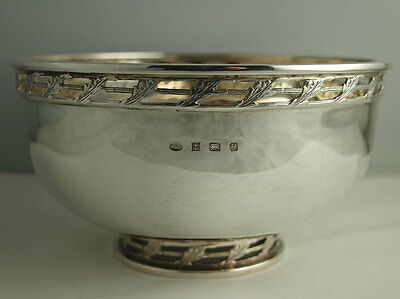 Superb A E Jones Contemporary Solid Silver Bowl - Birm. 1998