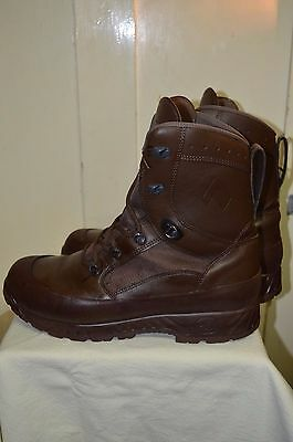 British Army Haix COMBAT HIGH LIABILITY Gore-Tex Boots BROWN UK Size 12 M