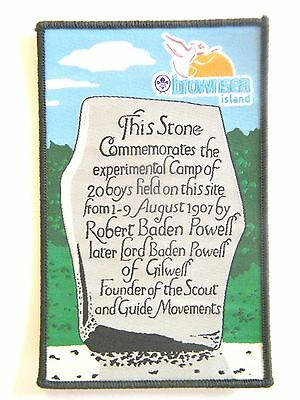 SCOUT FOUNDER'S STONE BADGE, Brownsea Island, England, 2007 Centenary Edition