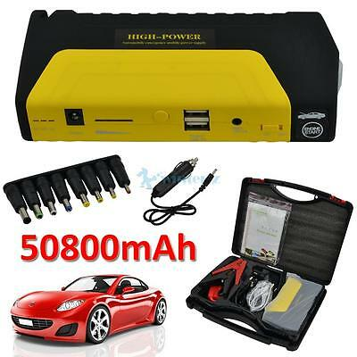 12V 50800mAh Car Jump Starter Pack Portable Booster Charger Battery Power Bank