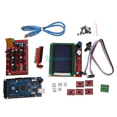 3D Printer RAMPS1.4 Kit +Mega2560+5pcs A4988+LCD 12864 Display Board for RepRap