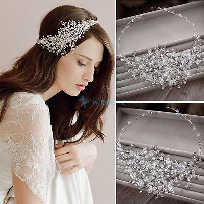 Bridal Wedding Crystal Rhinestone Party Headband Tiara Clear Hair Accessories
