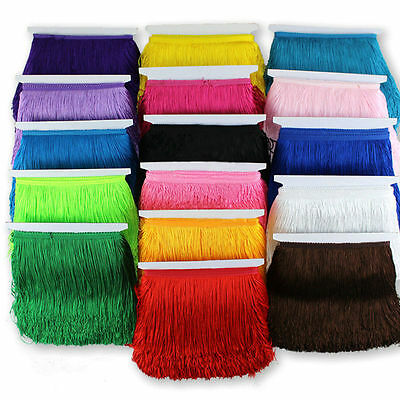 15cm fringing tassel costume dress upholstery fringe trim ONE YARD £2.99