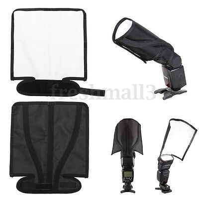 Foldable Flash Diffusers Speedlight Reflector Snoot Sealed Bender Beam Softbox