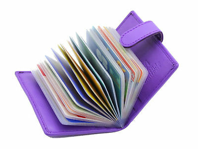 separation shoes 47303 71c84 NEW LADIES CREDIT Card Holder Genuine Soft Leather Card Case Wallet  210-Purple