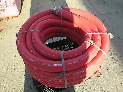 1 1/2 inch Red Rubber Water Hose- 50 Ft -  Made in USA - 200 PSI