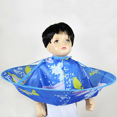 Cartoon Kids Child Hair Cutting Cape Apron Gown Hairdressing Barber Cute Cloak
