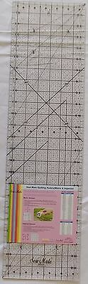 "Sew Mate Quilting /Craft Ruler 24"" x 6 1/2""  Top Quality  BLB630"