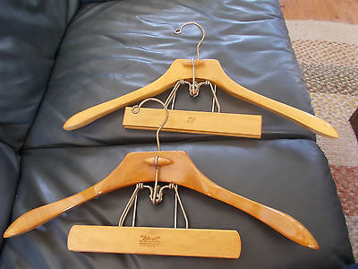 Vintage The Setwell Heavy Duty Wood Clamp Style Hanger Suit Coat & Pants