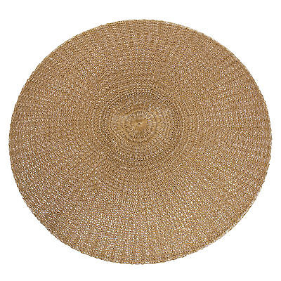 37cm Round Brown Woven Fabric Placemats Table Setting Place Mats Dining Room