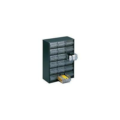 324117 , Storage Cabinet Clear Drawer System Dark Grey , H420xW307xD150mm