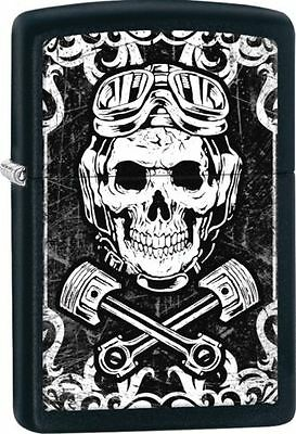 Zippo 29088, Skull, Wrenches, Black Matte Finish Lighter, Full Size
