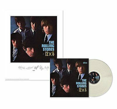 Rolling Stones 12X5 Clear Vinyl Lp Sealed And Lithograph Abkco Reissue