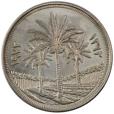 [#56334] IRAQ, Dinar, 1972, KM #137, MS(60-62), Silver, 40, 31.01
