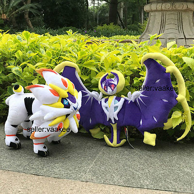 2X Pokemon Center Go Plush Toy Sun Moon Alola Lunala And Solgaleo Nintendo Doll