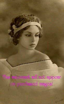 Old VINTAGE Antique BEAUTIFUL FLAPPER GIRL  Photo Reprint