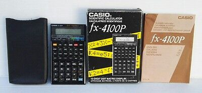 Calcolatrice Scientifica Casio Fx-4100P Vintage Scientific Calculator
