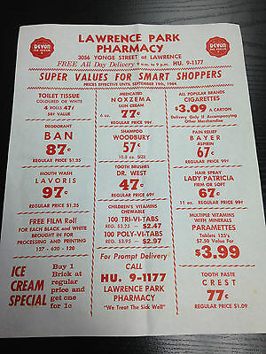 LAWRENCE PARK PHARMACY 3056 Yonge Street 1 Page Ad Flyer Drugstore Beauty Health