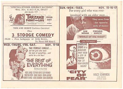 MOVIE FLYER KIM NOVAK in MIDDLE of the NIGHT THE STATE THEATRE DEPOSIT N Y 1959