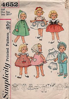 *Simplicity 4652 Vintage 50's Doll Clothes Pattern Chatty Cathy