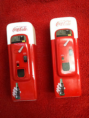 Coca-Cola Vending Machine: Collectible Salt and Pepper Shaker Set Never Used