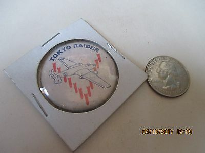Original Wwii Homefront Rwb Keep'em Flying B-25 Tokyo Raider   Button