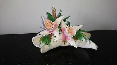 Capodimonte Made In Italy Flower Sculpture