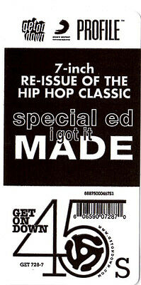 "Special Ed ‎– I Got It Made 7"" 45 NEW Hip Hop Get On Down Profile Instrumental"