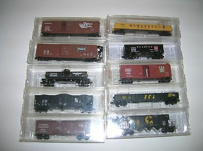 Micro Trains N Scale Rolling Stock 10 pieces that look new lot # 11011