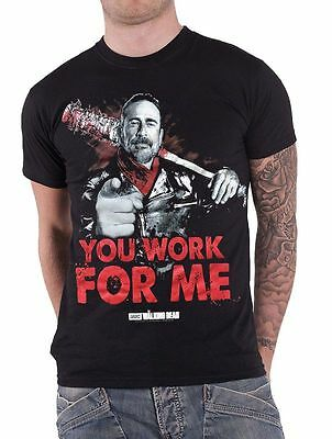 T-shirt The Walking Dead You Work For Me Negan e Lucille maglia Uomo ufficiale