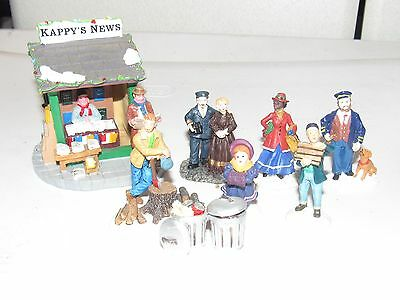 Lemax G Scale Villagers - Kappy's New Stand & Other Figures - Free Us Shipping!