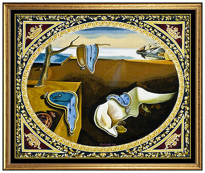 Salvador Dali Original Woven Tapestry Signed Persistence Of Memory Melting Clock