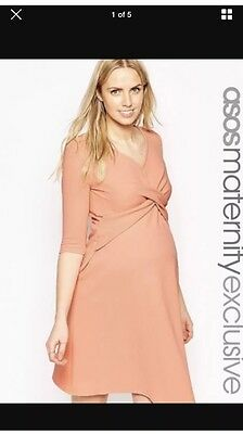 ASOS Peach/ Pink Size 10 Maternity Dress