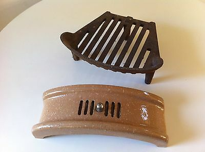 """1930's 12"""" Fire Grate + Fret Rare Size Excellent Condition Unused Bedroom Size"""
