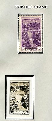 #774E Boulder Dam (Hoover Dam) B.e.p. Photo Essay W/ Finished Stamp Hw2742