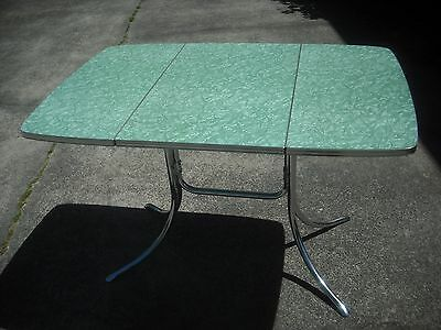 Vintage Mid Century Modern  Green drop down Formica table Virtue Brothers CA.
