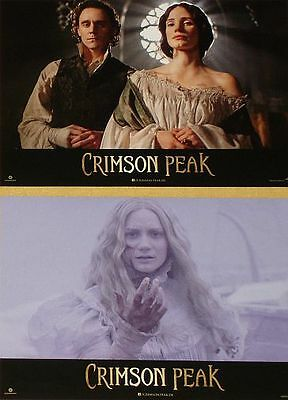 CRIMSON PEAK - Lobby Cards Set - Tom Hiddleston, Wasikowska, Guillermo Del Toro