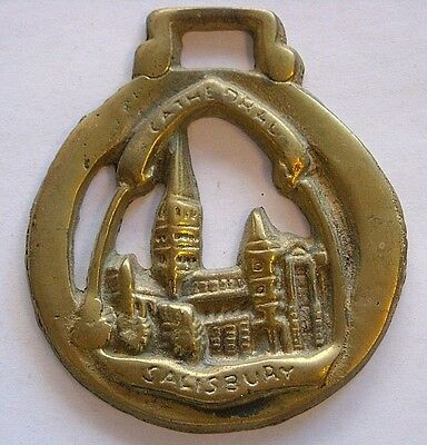 Vintage Horse Tack Harness Brass Bridle Ornament~Salisbury Cathedral