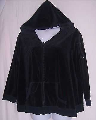 New Additions Maternity Size XL Black Hooded Jacket