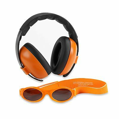 Baby Banz mini earmuffs combo Orange Earmuffs + Sunglasses 0-2
