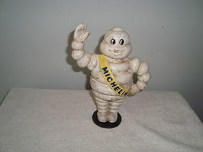 Vintage Michelin Man Cast Iron Bank