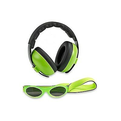 Baby Banz mini earmuffs combo Lime Green Earmuffs + Sunglasses 0-2