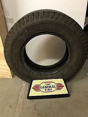 The General Tire Company Metal Tire Display Stand Vintage 1950's Rare