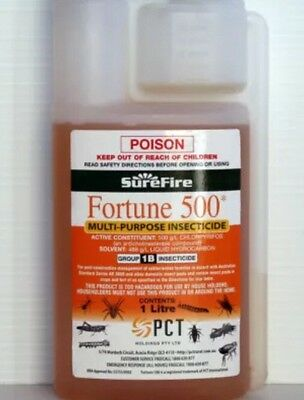 FORTUNE 500 INSECTICIDE & TERMITICIDE (Chlorpyrifos 500gm/L) 1-Litre