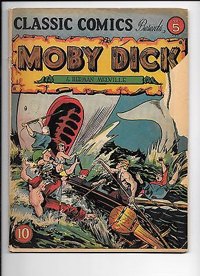 Classic Comics #5 Moby Dick by Herman Melville original edition