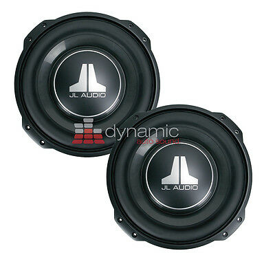 "2 JL AUDIO 12TW3-D4 Car 12"" Shallow Thin Mount DVC 4-Ohm Subwoofers 12TW3 New"