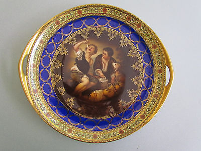 "Antique Royal Vienna Carlsbad Czechoslovakia Porcelain Tray ""melon Eaters"""
