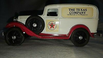 Collectible Texaco Die Cast Replica 1932 Ford Delivery Van Coin Bank With Key