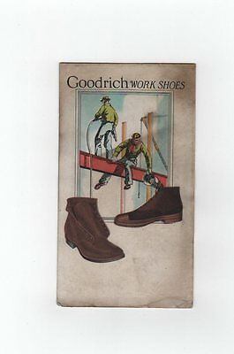 Antique Vintage BF Goodrich Work Shoes Ad Sign Store Display Blotter??